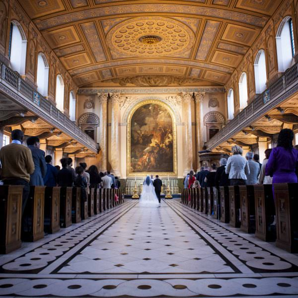 Old Royal Naval College Chapel Wedding Photographer