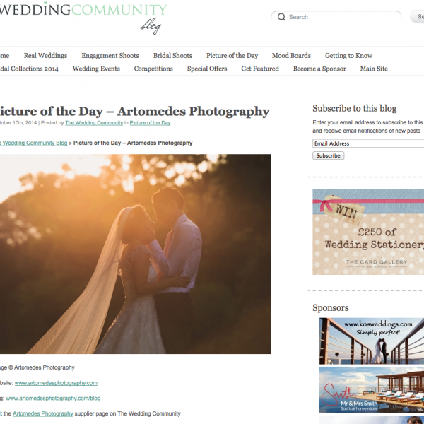 Featured on the Wedding Community Blog